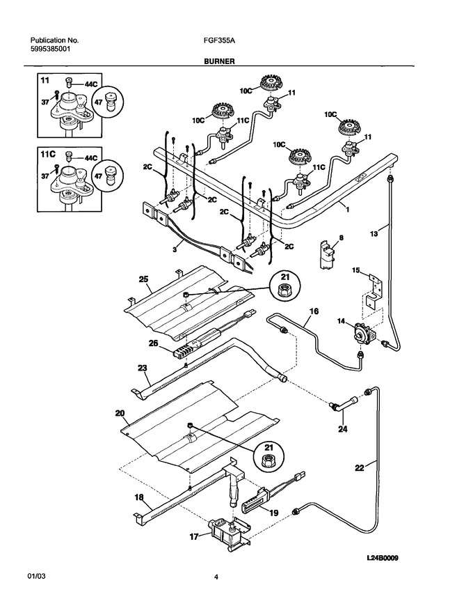 Diagram for FGF355AUD