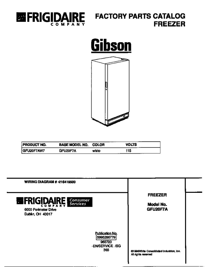 Diagram for GFU20F7AW7
