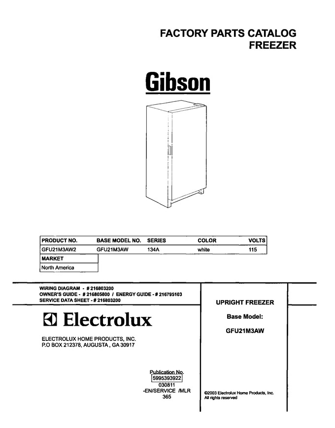 Diagram for GFU21M3AW2
