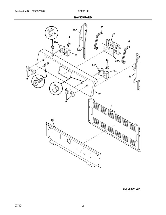 Diagram for LFEF3011LWA