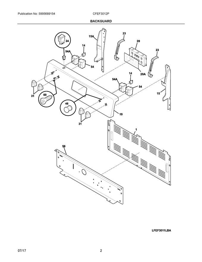 Diagram for CFEF3012PWE
