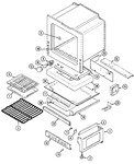 Diagram for 05 - Oven/base (3448xts)