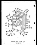 Diagram for 08 - Ref Door Assy 18 Cu. Ft.