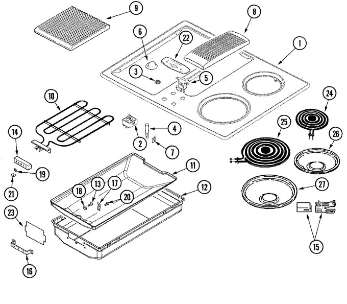 Diagram for JED8130ADW