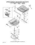 Diagram for 05 - Upper Dishrack And Water Feed Parts