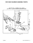 Diagram for 06 - W10135231 Burner Assembly Parts