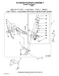 Diagram for 06 - W10096909 Burner Assembly