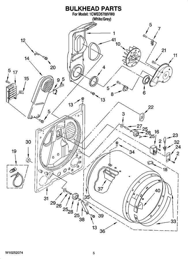 Diagram for 1CWED5700VW0