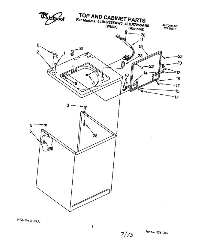 Diagram for 4LBR7255AN0