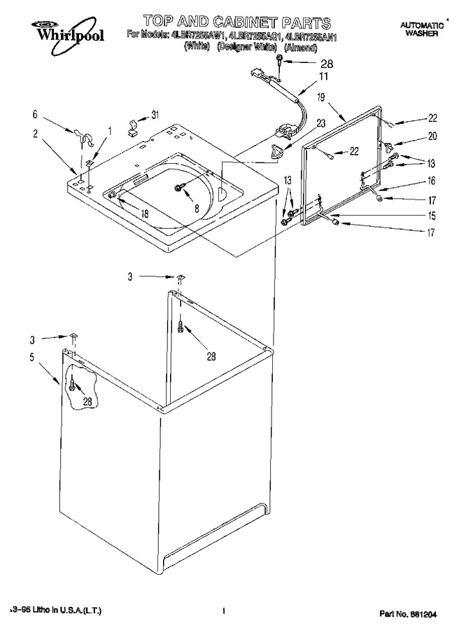 Diagram for 4LBR7255AW1