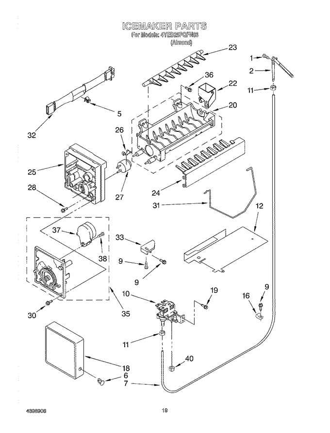 Diagram for 4YED25PQFN03