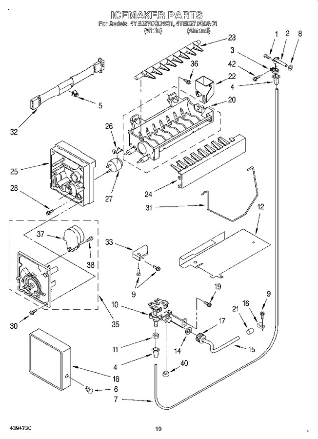 Diagram for 4YED27DQDN01