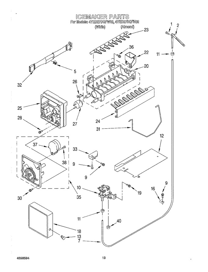 Diagram for 4YED27DQFN02