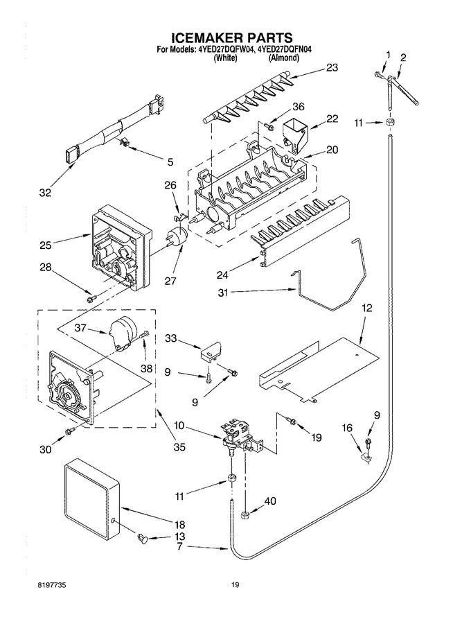 Diagram for 4YED27DQFN04