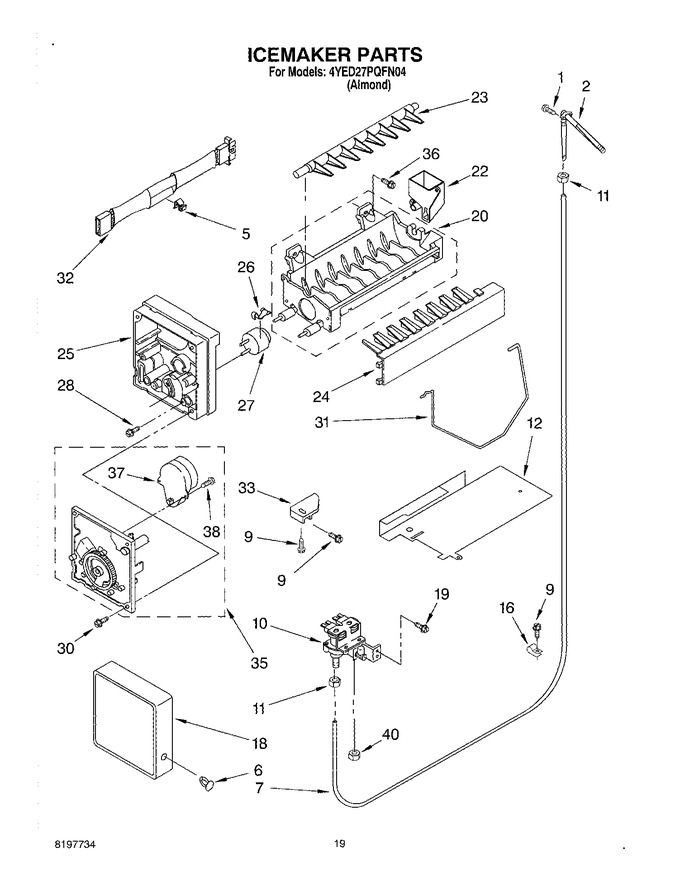 Diagram for 4YED27PQFN04