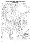 Diagram for 04 - Upper Cabinet And Front Panel Parts