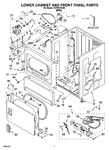 Diagram for 02 - Lower Cabinet And Front Panel Parts