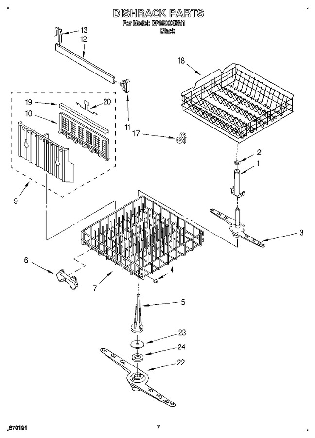 Diagram for DP8500XBN1