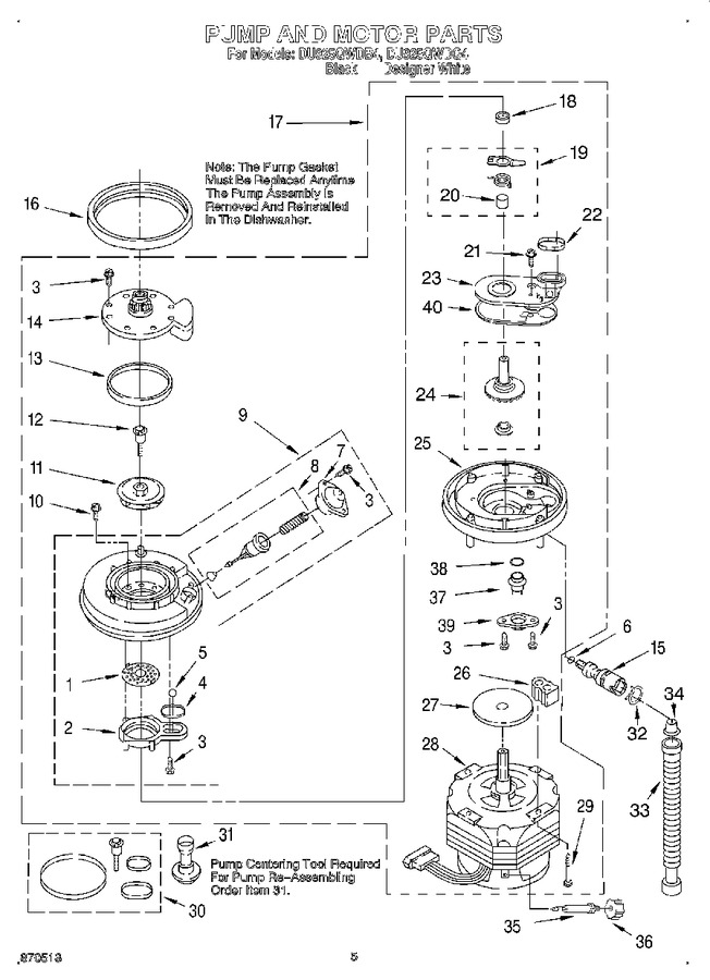 Diagram for DU925QWDB4