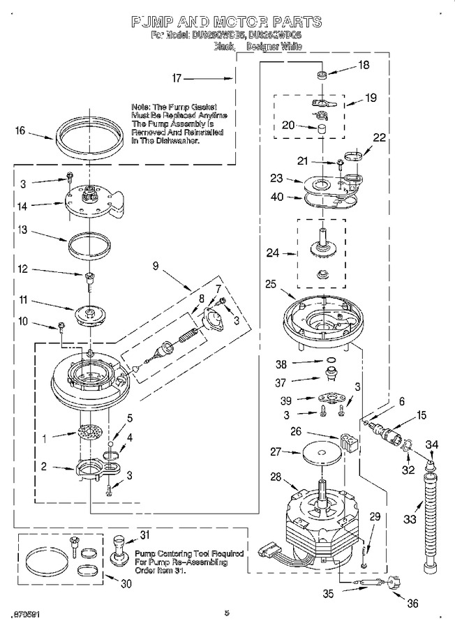 Diagram for DU925QWDB5