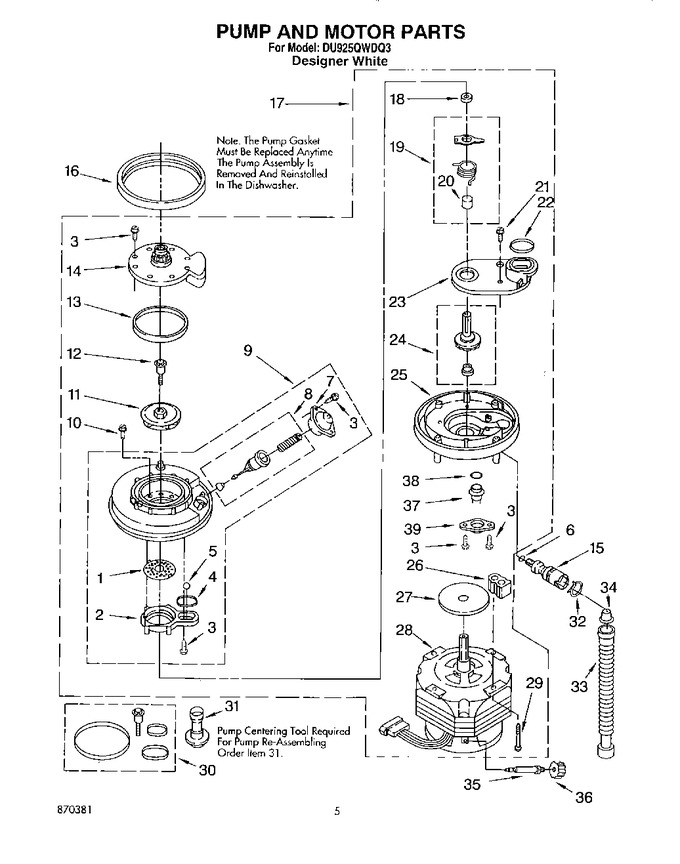 Diagram for DU925QWDQ3