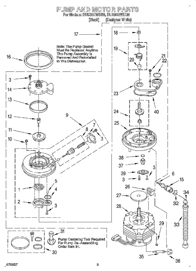 Diagram for DU930QWDB6