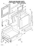 Diagram for 04 - Door And Drawer Parts