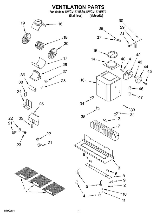 Diagram for KWCV167MSS0