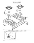 Diagram for 02 - Cooktop, Complete Sealed Gas Burner