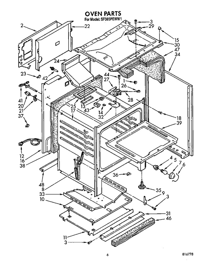 Diagram for SF385PEWW1