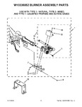 Diagram for 05 - W10336852 Burner Assembly Parts