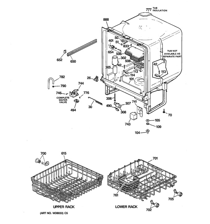 Diagram for GSD2615F00AA