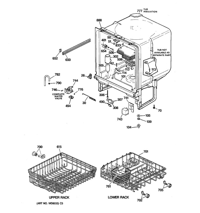 Diagram for GSD1005F00WH
