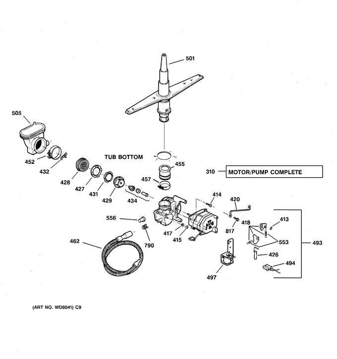 Diagram for HDA2000F03WH