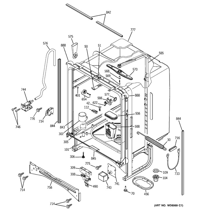 Diagram for PDW7300G00WW