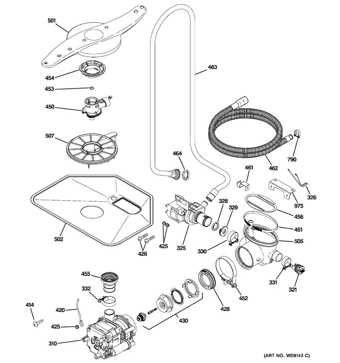 Diagram for PDW9280J00SS