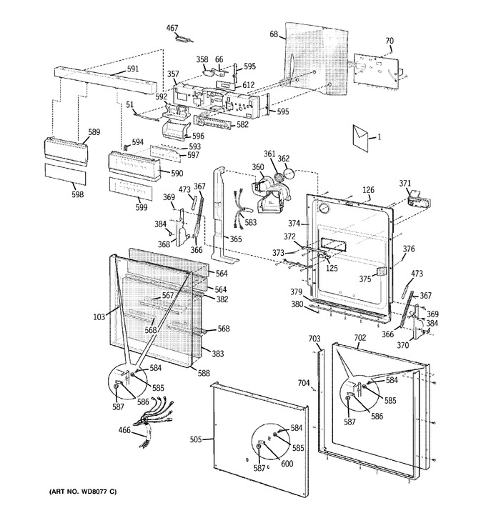 Diagram for PDW8000G0BB
