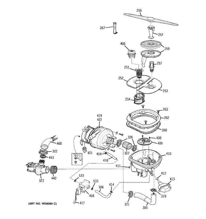 Diagram for PDW8000G0WW