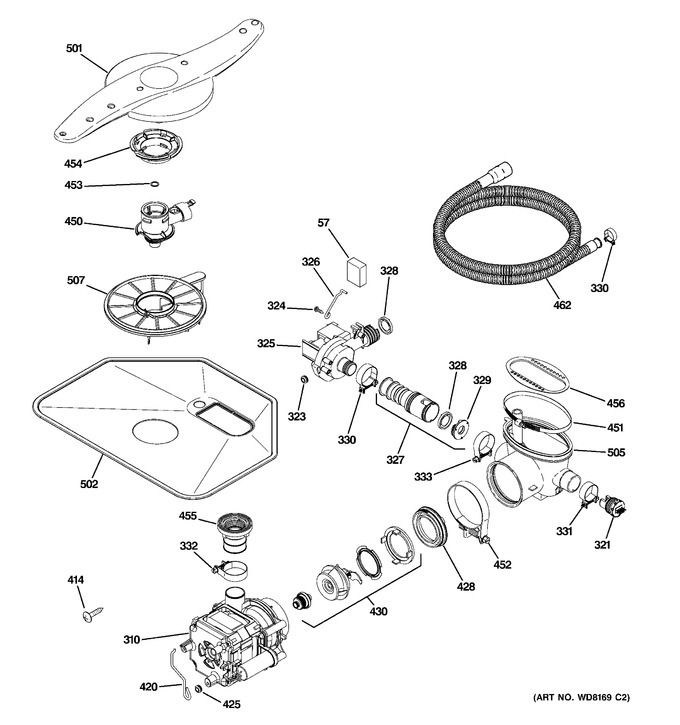 Diagram for PDW8400J10CC