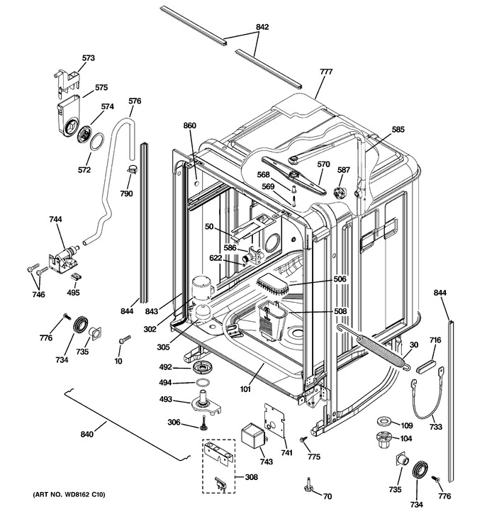 Diagram for PDW8612K10SS