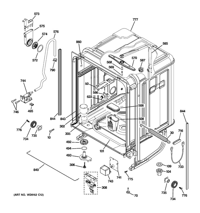 Diagram for PDW8680J10SS