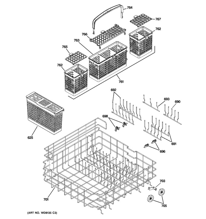Diagram for PDW9700J10II