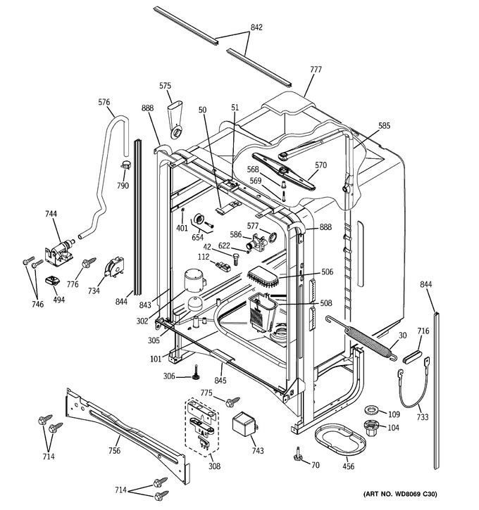 Diagram for PDW7380J10SS