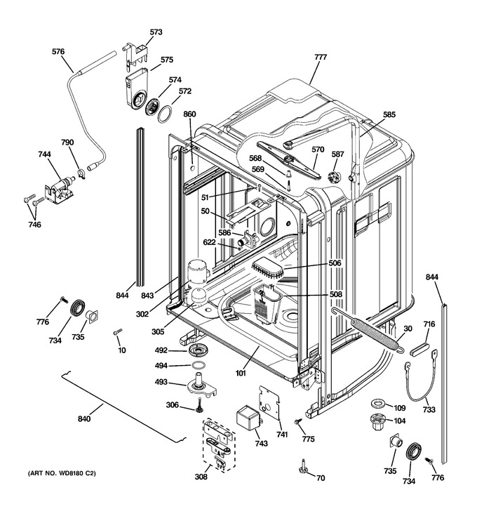 Diagram for PDW9800L00BB