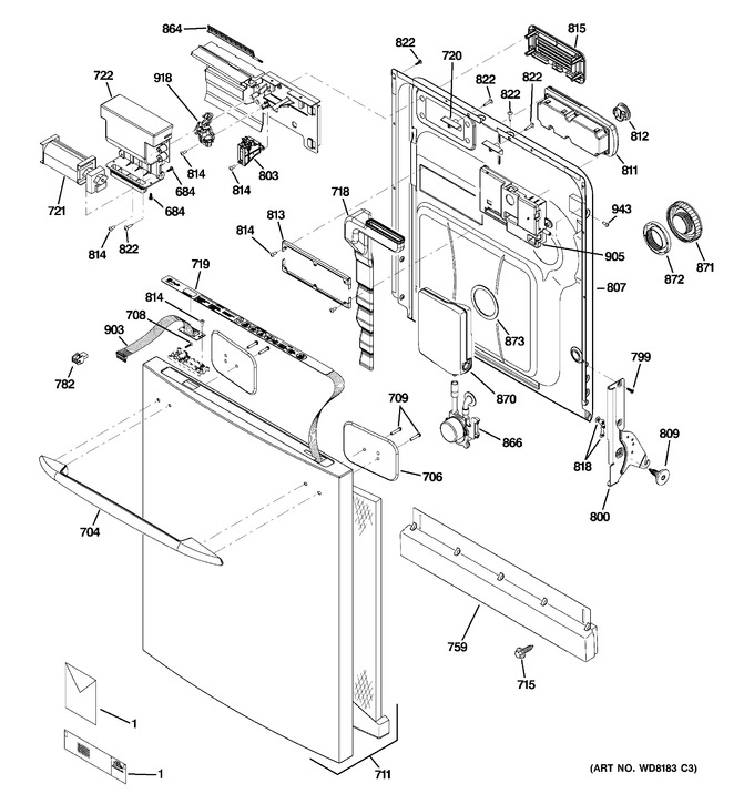 Diagram for PDW9900L00WW