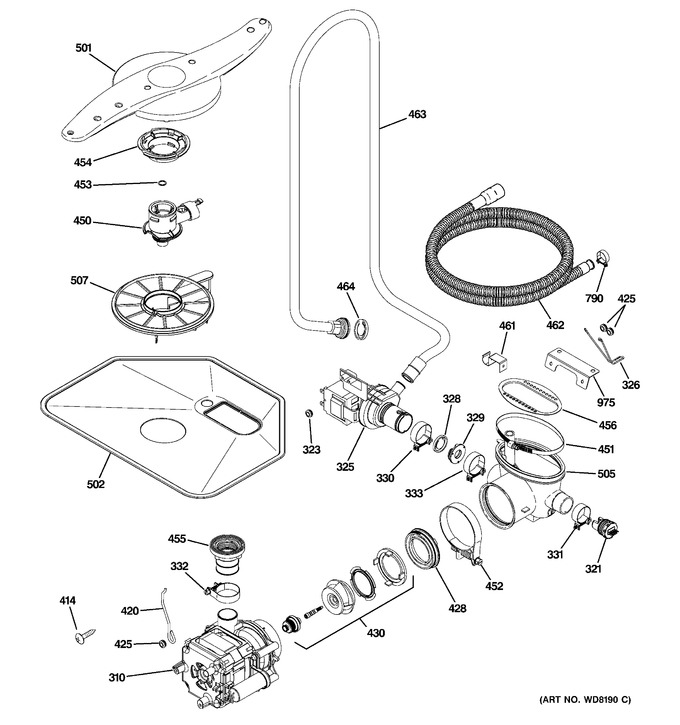 Diagram for PDW8612J01WW