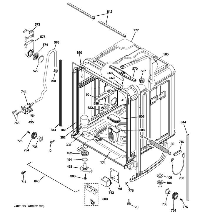 Diagram for PDW8612K03SS