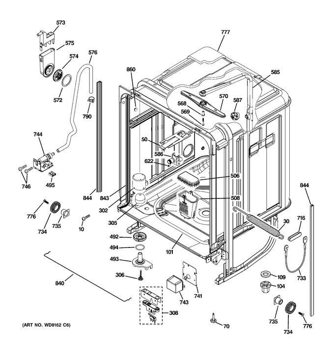 Diagram for PDW8680J03SS