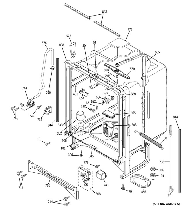 Diagram for PDW7900N10BB