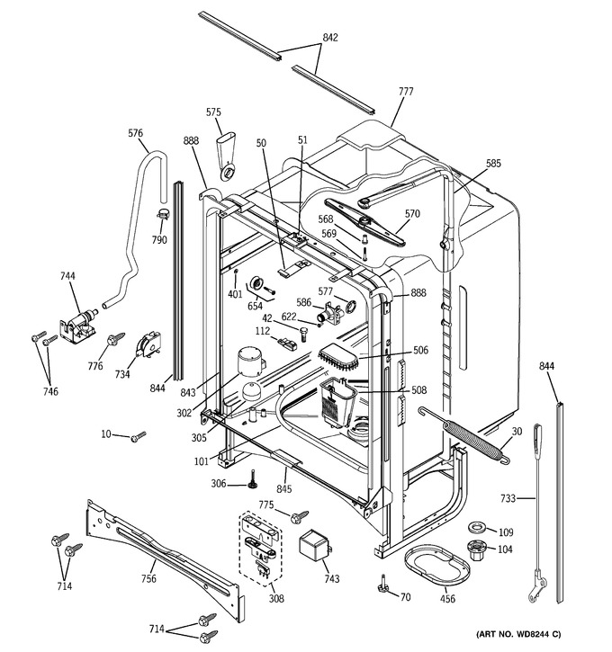 Diagram for PDW7800N10BB